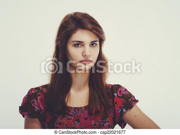 beautiful teen girl - csp22021677