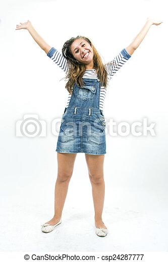 Beautiful teen girl - csp24287777