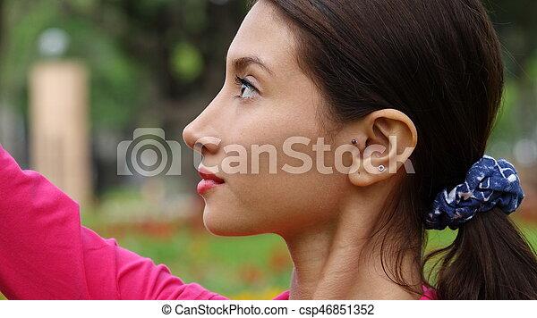 Beautiful Teen Girl - csp46851352