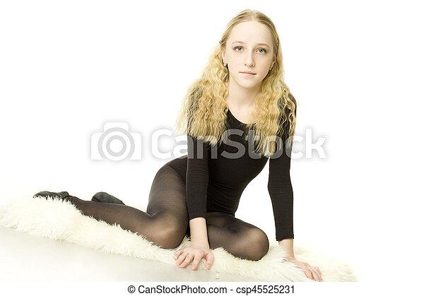Beautiful teen girl - csp45525231