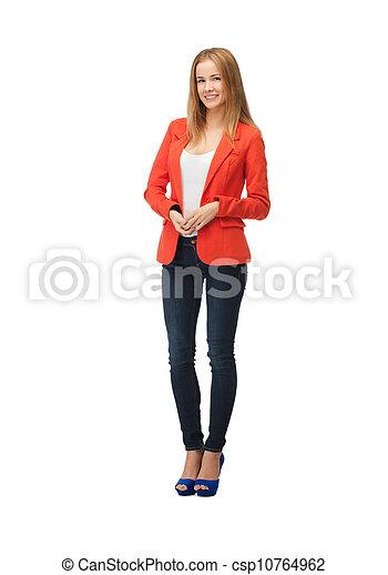 beautiful teenage girl in casual clothes - csp10764962