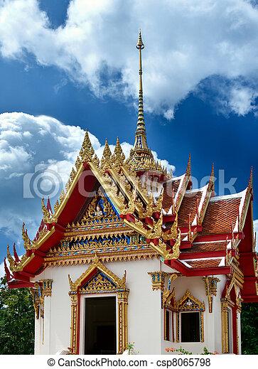 Beautiful Thai temple - csp8065798