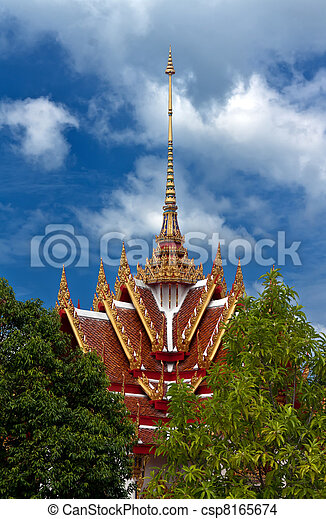Beautiful Thai temple - csp8165674