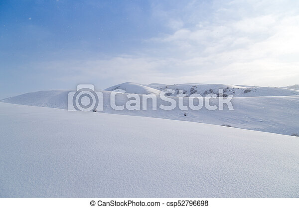 beautiful Tien-Shan mountains in the snow. in winter - csp52796698