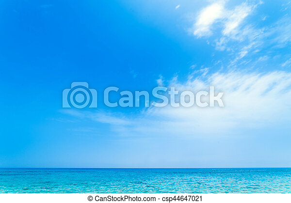 Beautiful tropical sea and sky - Summer scene background - csp44647021