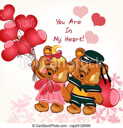 Stock Illustration of Beautiful Valentines Day card with couple – Beautiful Valentines Day Cards