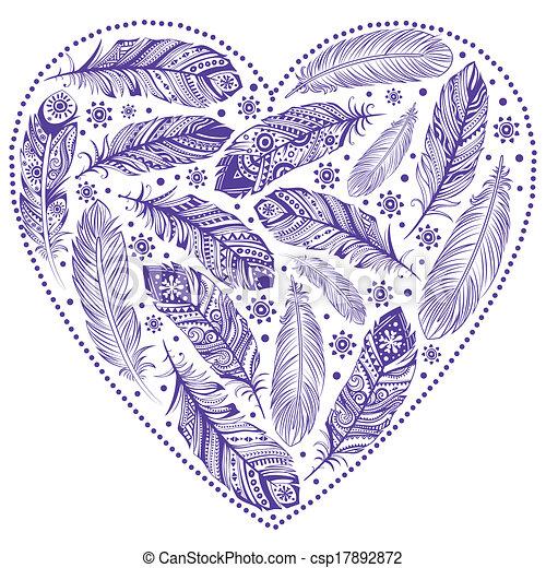 Beautiful Valentine's day heart - csp17892872