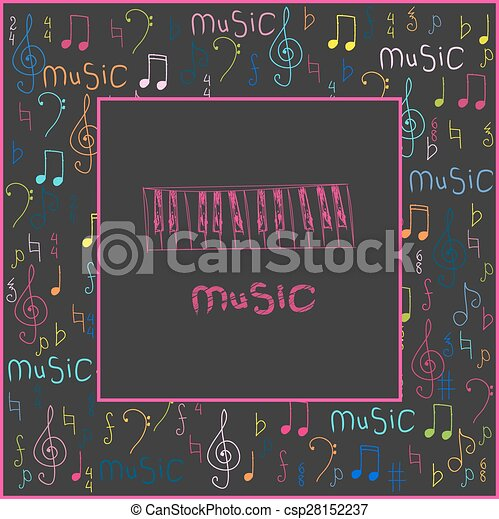 Beautiful vector abstract for World Music  - csp28152237