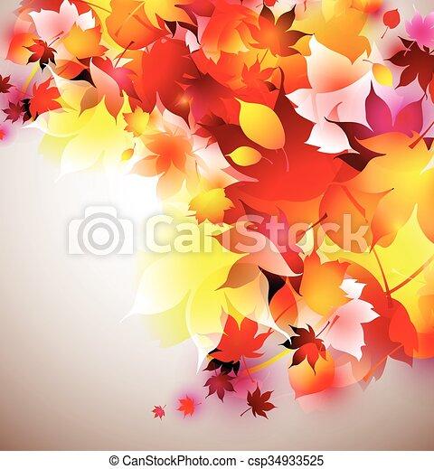 beautiful vector autumn background - csp34933525