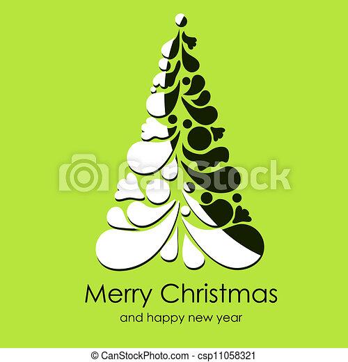 Beautiful vector Christmas card - csp11058321