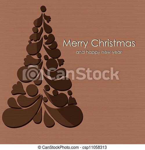 Beautiful vector Christmas card - csp11058313