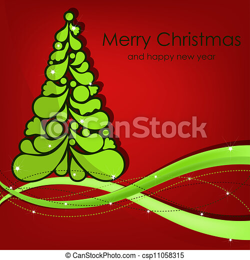 Beautiful vector Christmas card - csp11058315