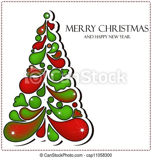 Beautiful vector Christmas card - csp11058300