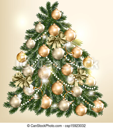 Beautiful Vector Christmas Tree For Design