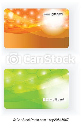Beautiful Vector Gift card - csp20848967