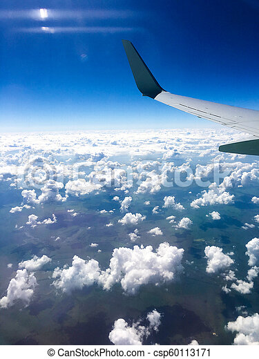 Beautiful view from window of airplane - csp60113171
