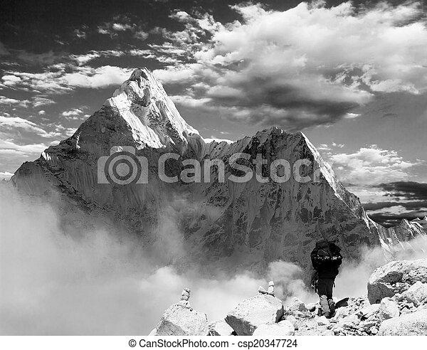 Beautiful view of Ama Dablam - csp20347724