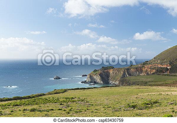 beautiful view of big sur coast in california - csp63430759