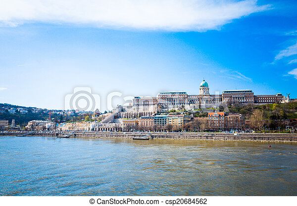 Beautiful view of historic Royal Palace in Budapest - csp20684562