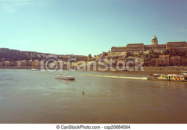 Beautiful view of historic Royal Palace in Budapest - csp20684564