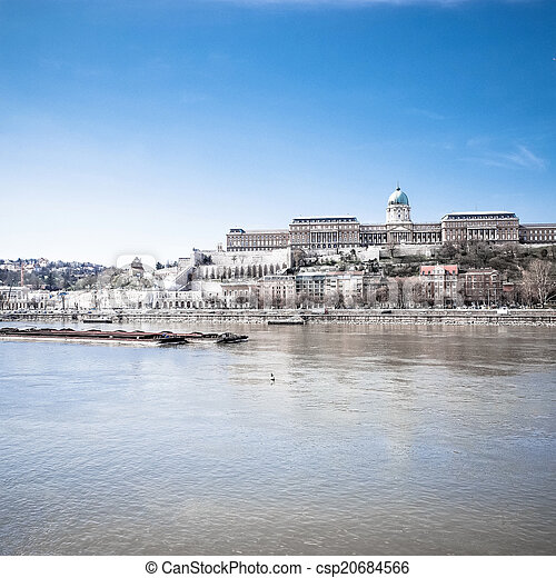 Beautiful view of historic Royal Palace in Budapest - csp20684566