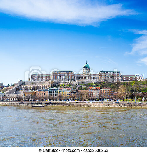 Beautiful view of historic Royal Palace in Budapest - csp22538253