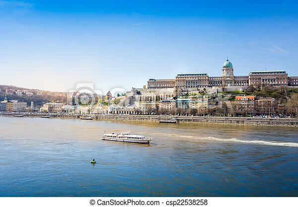 Beautiful view of historic Royal Palace in Budapest - csp22538258