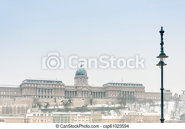 Beautiful view of historic Royal Palace in Budapest, Hungary - csp61023594