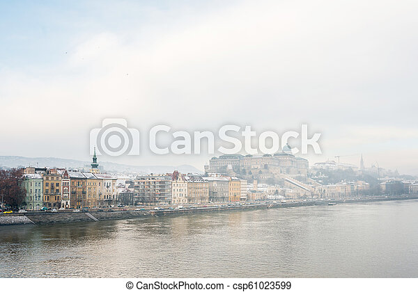 Beautiful view of historic Royal Palace in Budapest, Hungary - csp61023599
