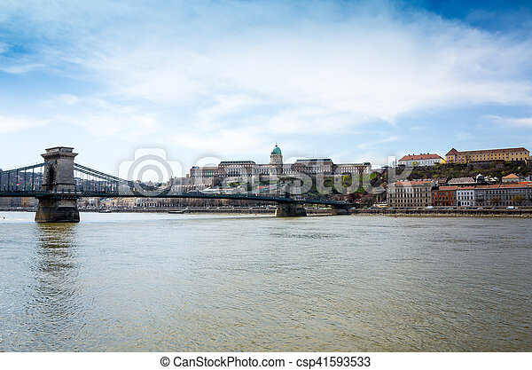 Beautiful view of historic Royal Palace in Budapest, Hungary - csp41593533