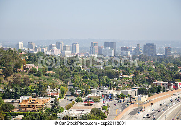 Beautiful view of Los Angeles city - csp22118801