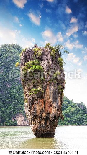 Beautiful View Of Phang Nga Bay Rocks James Bond Island Thaila