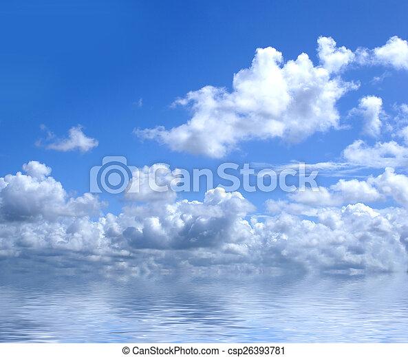 Beautiful view of sky - csp26393781