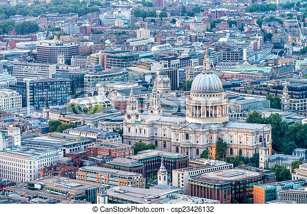Beautiful view of St Paul Cathedral - London - csp23426132