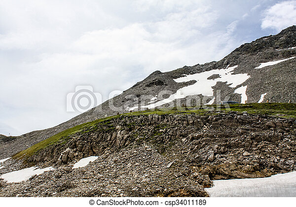 Beautiful view of the Austrian Alps - csp34011189