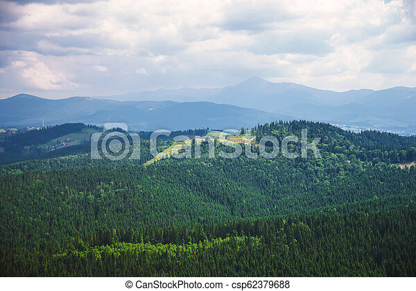 beautiful view of the mountains - csp62379688