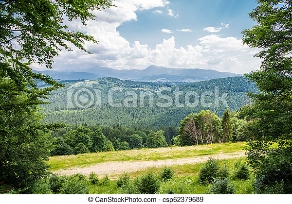 beautiful view of the mountains - csp62379689