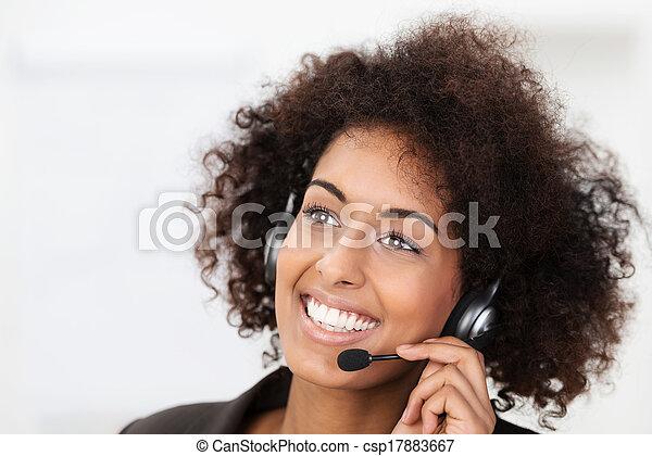 Beautiful vivacious client services operator - csp17883667