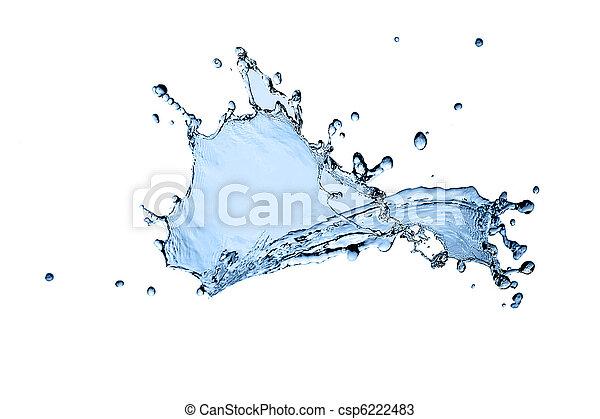 beautiful water splash freeze - csp6222483