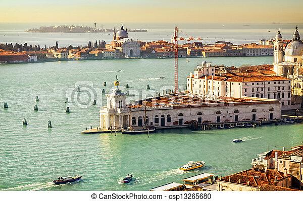 Beautiful water street - Gulf of Venice, Italy - csp13265680