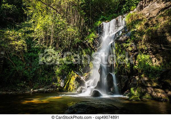 Beautiful waterfall in Cabreia Portugal - csp49074891