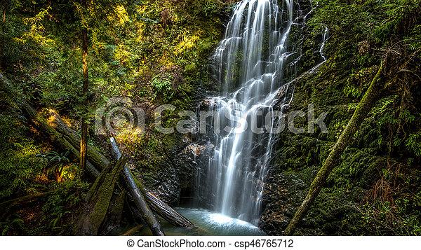 Beautiful waterfall - csp46765712