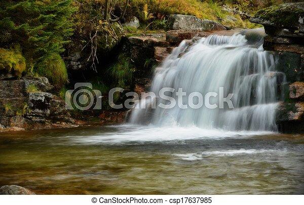 Beautiful waterfall - csp17637985