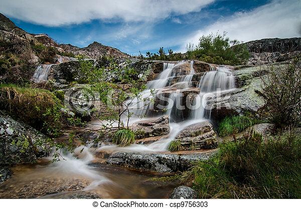 Beautiful waterfall - csp9756303