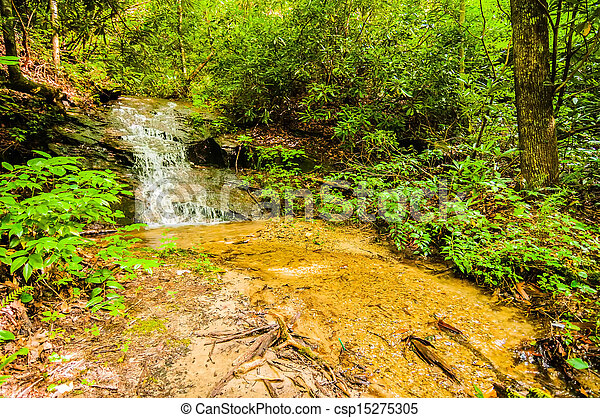 beautiful watrefalls in upstate south carolina - csp15275305