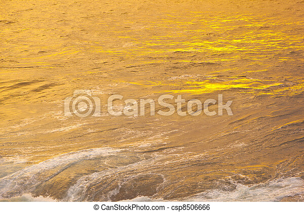beautiful waves at the beach in sunset - csp8506666