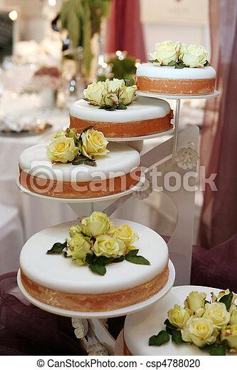 Beautiful wedding cake - csp4788020