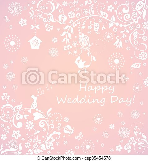Beautiful wedding card - csp35454578