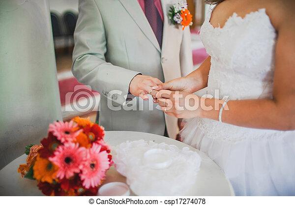 beautiful wedding ceremony - csp17274078