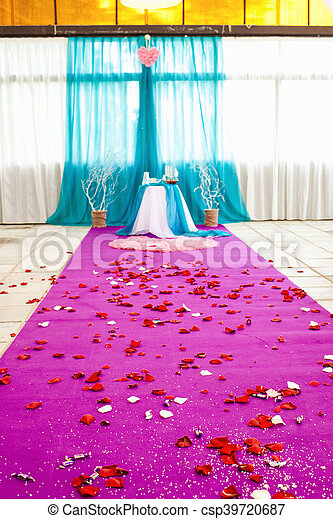beautiful wedding ceremony - csp39720687